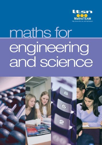 Maths for Engineering and Science - Math Centre