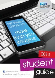 Click here to view Student Guide - TAFE Illawarra - TAFE NSW
