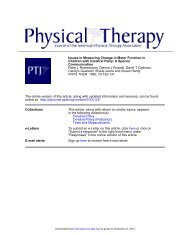 Issues in Measuring Change in Motor Function in ... - Physical Therapy