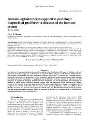 Immunological concepts applied to pathologic ... - Cancer Therapy
