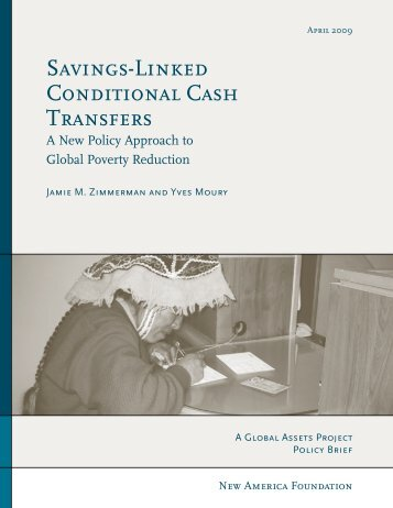 Savings-Linked Conditional Cash Transfers - New America ...