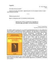 Kinetoterapia pacienţilor cu boala Parkinson - Colegiul Medicilor ...