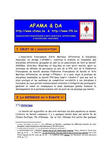 AFAMA & DA - Association Francophone d'Arts Martiaux Affinitaires