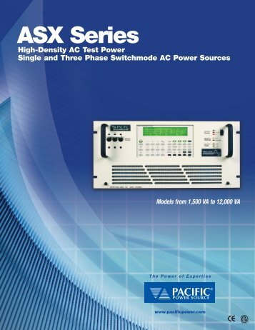 ASX Series AC Power Sources - H TEST a.s.