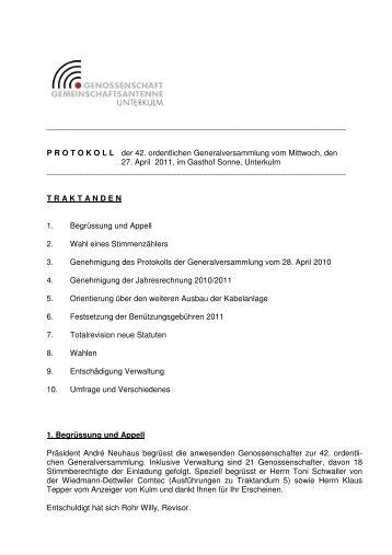 GV - Protokoll 2011-2 - Ziknet