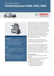 CB08, CB18, CB28 - Bosch Automotive Technology