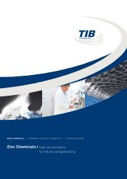 Zinc Chemicals | high-value products for ... - TIB Chemicals AG