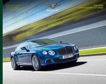 THE NEW CONTINENTAL GT SPEED - Bentley Motors