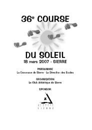 course du soleil 07 - Club Athlétique de Sierre