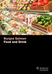 Burges Salmon Food and Drink