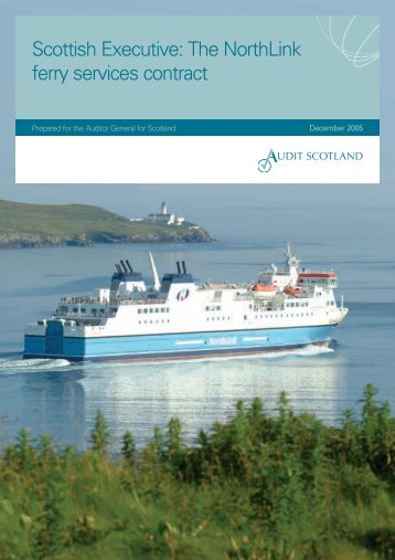 The NorthLink ferry services contract - Audit Scotland