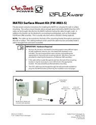 MATE3 Surface Mount Kit (FW-MB3-S) Parts - OutBack Power Systems