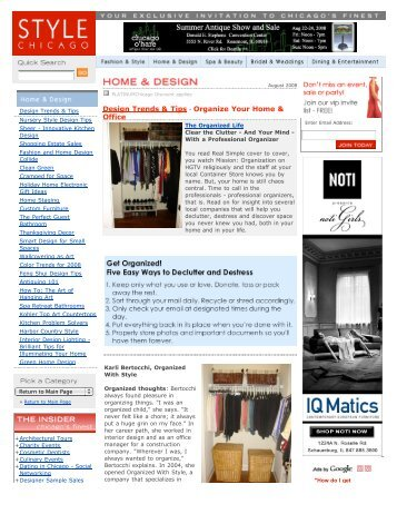 Organize Your Home & Office - Chicago, IL ... - Chaos to Order