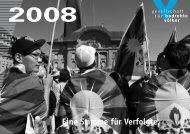 Jahresbericht 2008 - Gesellschaft für bedrohte Völker