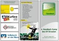 4. Handball-Camp des SV Straelen - beim SV 19 Straelen