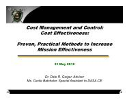 Cost Management and Control: Cost Effectiveness ... - PDI 2012