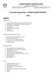 Conteúdo Programático – MUSICALIZAÇÃO INFANTIL - Colégio ...