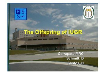The Offspring of IUGR