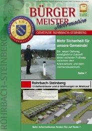 Mehr Sicherheit für unsere Gemeinde! - Rohrbach-Steinberg