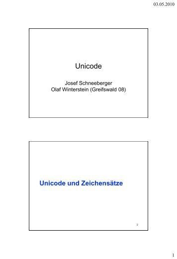 Was ist Unicode?