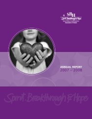 annual report - Spina Bifida & Hydrocephalus Association of Ontario