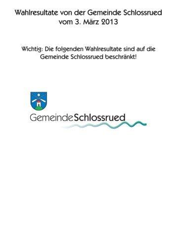 Wahlprotokoll - Gemeinde Schlossrued