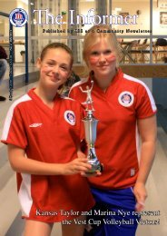 Kansas Taylor and Marina Nye represent the Vest Cup Volleyball ...