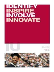 identify inspire involve innovate - Indiana University Alumni ...
