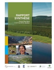 RAPPORT SYNTHÈSE - Forum plan nord