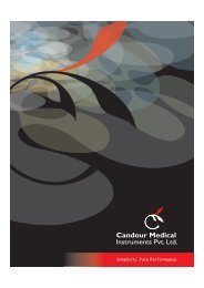 Download Brochure - Candour Medical Instruments Pvt. Ltd.