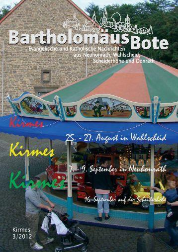 Bartholomäusbote Nr. 3/2012 - Evangelischen Kirchengemeinde ...