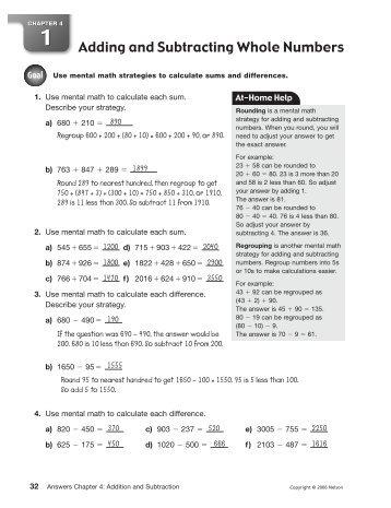California mathematics grade 4 chapter 6