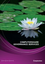 COMPUTERSHARE GOVERNANCE SERVICES