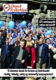 Vi stemmer dansk for kronen og fædrelandet ... - Dansk Folkeparti