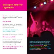 Die Region Hannover sagt Danke! - Jugendserver Niedersachsen