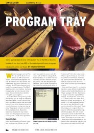 program tray - Linux Magazine