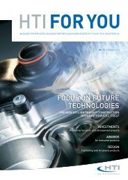 foCus oN fuTure TeChNoLogIes - HTI - High Tech Industries AG