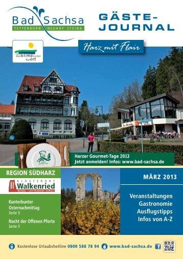 Gästejournal März 2013 (PDF) - Walkenried