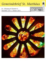 Dezember 2013 / Januar 2014 - St. Matthaeus in Nuernberg