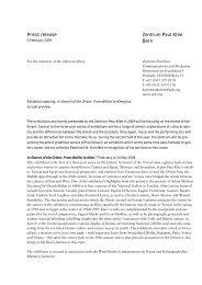 Press release Zentrum Paul Klee Bern