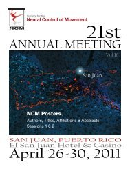 Poster Abstracts - Society for the Neural Control of Movement