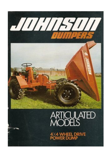 Johnson Construction Machinery Ltd 4WD dumpers - Diggers ...