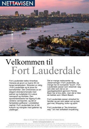 Fort Lauderdale Reiseguide fra Reiseplaneten AS - www ...