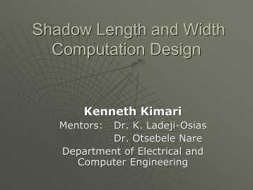 Shadow Length and Width Computation Design