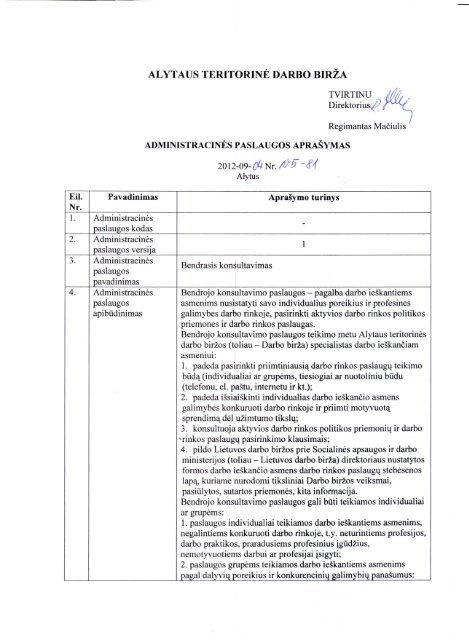 Bendrojo konsultavimo paslaugų teikimas.pdf - Lietuvos darbo birža