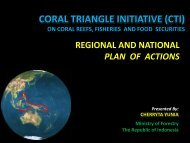 CORAL TRIANGLE INITIATIVE (CTI) ON CORAL REEFS, FISHERIES AND FOOD ...