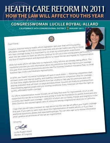 HERE - Congresswoman Lucille Roybal-Allard