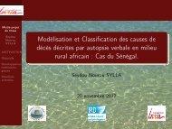 Modélisation et Classification des causes de ... - Mistis - Grenoble