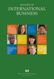 international business - Fletcher School of Law and Diplomacy ...