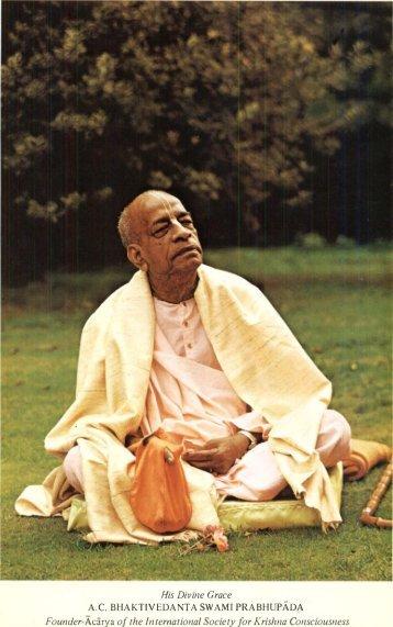 Founder-Acarya of the International Society for ... - Prabhupada